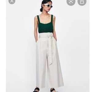 NWT Zara Collection Paper Bag palazzo pants xl